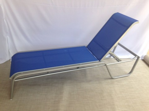 Caribbean loveseat dde outdoor furniture for Blue sling chaise lounge
